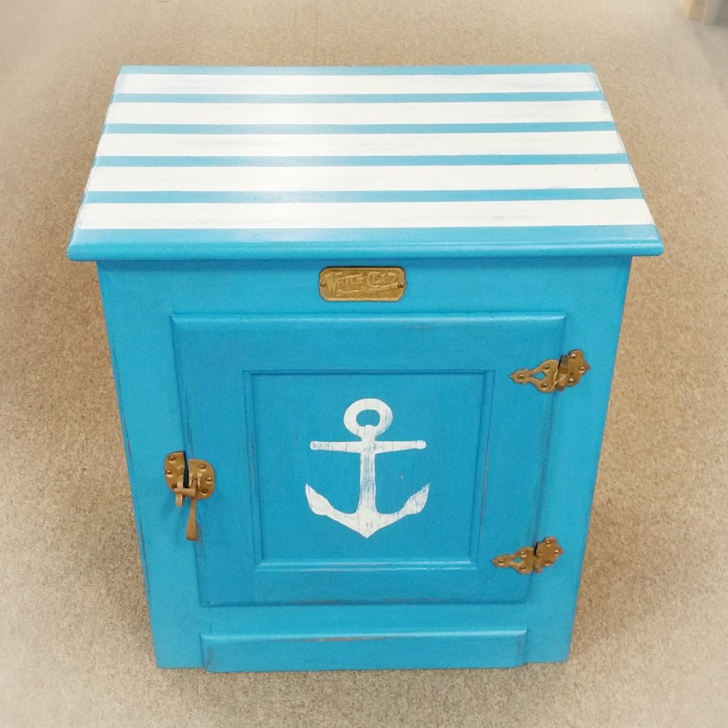 Anchor White Clad Ice Chest End Table Bow Tie Tuesday Treasures